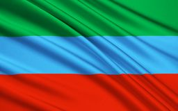 Flaga republika Karelia, federacja rosyjska Ilustracji