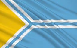 Flaga republika Sakha Yakutia, federacja rosyjska ilustracja wektor