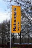 Flaga rezerwat przyrody Lelystad Zdjęcia Royalty Free