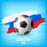 Flaga Rosja i piłka Fotografia Stock