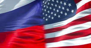 Flaga Russia falowanie w wiatrze, federaci rosyjskiej flaga z chroma klucza zieleni parawanowym tłem, patriotyzm zbiory wideo