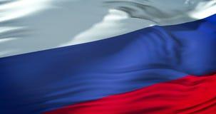 Flaga Russia falowanie w wiatrze, federaci rosyjskiej flaga, zakończenie widok, patriotyzm zbiory