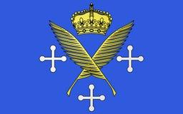 Flaga Saint Etienne, Francja zdjęcie royalty free