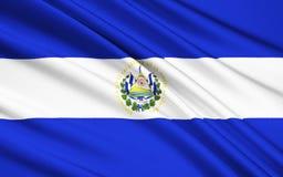 Flaga Salwador, San Salvador ilustracji
