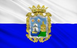 Flaga Santander jest kapitałem autonomiczna społeczność i royalty ilustracja