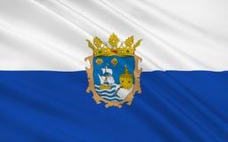 Flaga Santander jest kapitałem autonomiczna społeczność i ilustracji