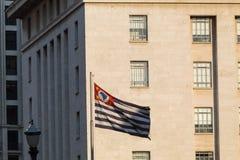 Flaga Sao Paulo stan zdjęcie royalty free