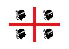 Flaga Sardinia ilustracji
