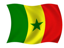 flaga Senegal ilustracji