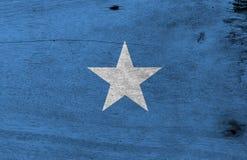 Flaga Somalia na drewnianym półkowym tle Grunge Somalian flagi tekstura obrazy stock