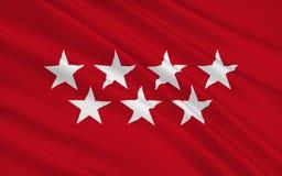 Flaga społeczność Madryt, Hiszpania ilustracja wektor
