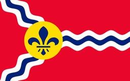 Flaga St Louis w Missouri, usa obraz royalty free