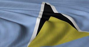 Flaga St Lucia ilustracja wektor