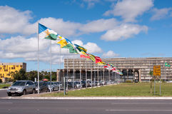 Flaga stany Brazylia obrazy royalty free