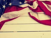 Flaga Stany Zjednoczone na drewnie Obraz Royalty Free