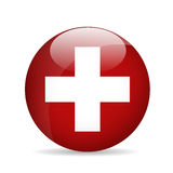 flaga Szwajcarii również zwrócić corel ilustracji wektora Obraz Stock