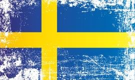 Flaga Szwecja, królestwo Szwecja Marszczący brudni punkty ilustracja wektor