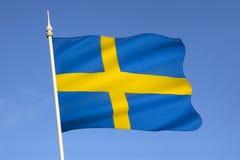 Flaga Szwecja, Scandinavia, Europa - Zdjęcia Royalty Free