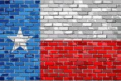Flaga Teksas na ściana z cegieł Obrazy Royalty Free
