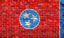 Flaga Tennessee na ściana z cegieł Zdjęcie Royalty Free
