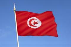 Flaga Tunezja - afryka pólnocna Obraz Royalty Free