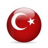 Flaga Turcja również zwrócić corel ilustracji wektora Obrazy Royalty Free