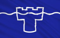 Flaga Tyne i odzieży okręg administracyjny, Anglia ilustracja wektor