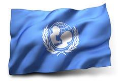 Flaga UNICEF Obrazy Stock