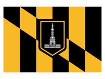 Flaga usa miasto Baltimore, Maryland ilustracja wektor