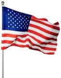Flaga usa, Odizolowywająca na Przejrzystym zdjęcie royalty free