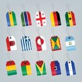 flaga ustawiający świat Zdjęcia Royalty Free