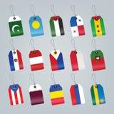 flaga ustawiający świat Zdjęcia Stock