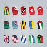 flaga ustawiający świat Fotografia Stock