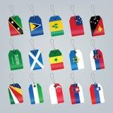 flaga ustawiający świat Zdjęcie Royalty Free