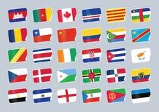 flaga ustawiający świat Obraz Stock