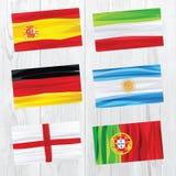flaga ustawiający świat Obrazy Royalty Free
