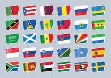 flaga ustawiający świat Obrazy Stock