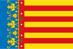 Flaga Valencian społeczność ilustracja wektor