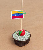 Flaga Venezuela na babeczce Obrazy Royalty Free