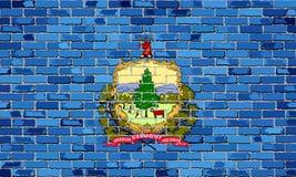 Flaga Vermont na ściana z cegieł Fotografia Royalty Free
