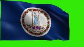Flaga Virginia, VA, Richmond, Virginia plaża, Czerwiec 25 1788, stan Stany Zjednoczone Ameryka, usa stan - pętla