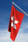 flaga w Hong kongu Zdjęcie Stock