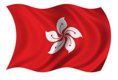 flaga w Hong kongu Zdjęcia Stock