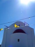Flaga w wiatrze obrazy stock