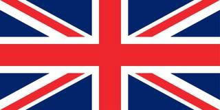 Flaga wielkie Britain oryginału proporcje royalty ilustracja
