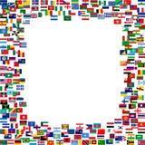 flaga wszystkie rama Fotografia Stock