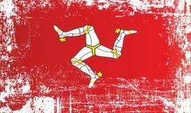 Flaga wyspa mężczyzna, koron zależność Marszczący brudni punkty ilustracja wektor