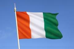Flaga Z kości słoniowej wybrzeże - afryka zachodnia Obraz Stock