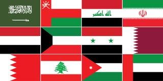 Flaga Zachodni Azja Obraz Stock