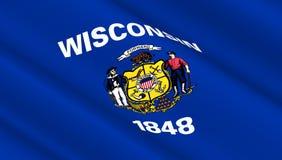 Flaga Zachodni Wisconsin stan Obraz Royalty Free